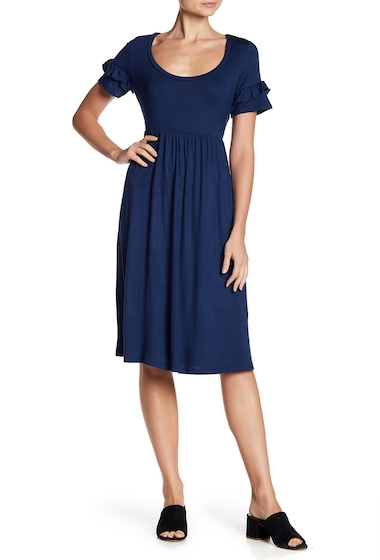 Imbracaminte Femei Vanity Room Ruffle Sleeve Midi Dress SAILR BLUE