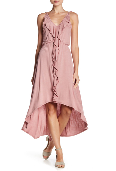 Imbracaminte Femei Vanity Room Ruffled Hi-Lo Dress ROSEWOOD