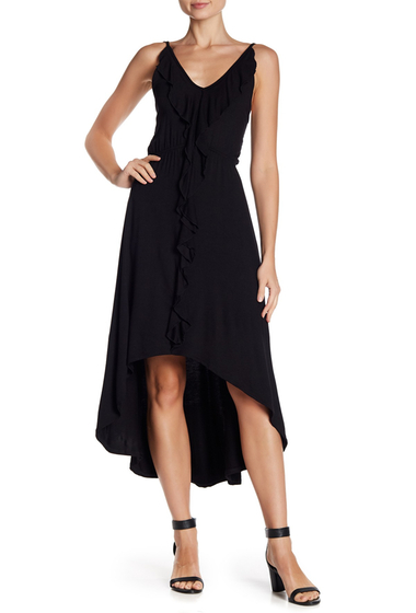 Imbracaminte Femei Vanity Room Ruffled Hi-Lo Dress BLACK