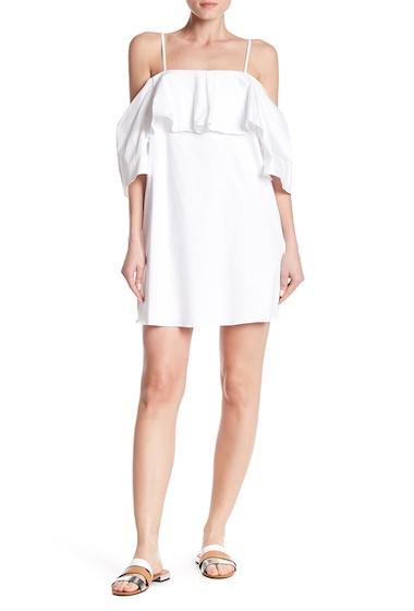 Imbracaminte Femei Do Be Cold Shoulder Popover Mini Dress WHITE