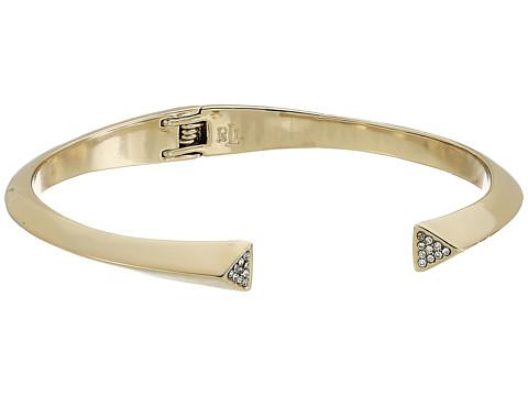 Bijuterii Femei LAUREN Ralph Lauren Minimal Metal Gold and Pave Sculpted Open Cuff Bracelet GoldCrystal