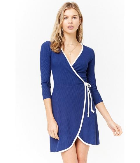 Imbracaminte Femei Forever21 Surplice Wrap Dress NAVYCREAM