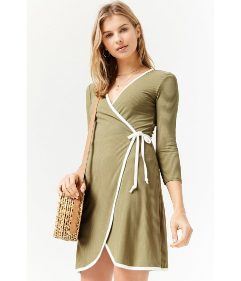 Imbracaminte Femei Forever21 Surplice Wrap Dress SAGECREAM