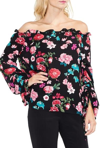 Imbracaminte Femei Vince Camuto Off the Shoulder Floral Heirloom Top RICH BLACK