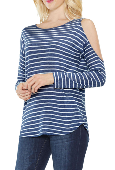 Imbracaminte Femei Two by Vince Camuto Rapid Stripe Top INDIGONIGH