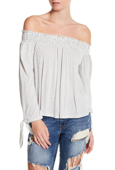 Imbracaminte Femei dee elly Striped Off-The-Shoulder Blouse GRAY