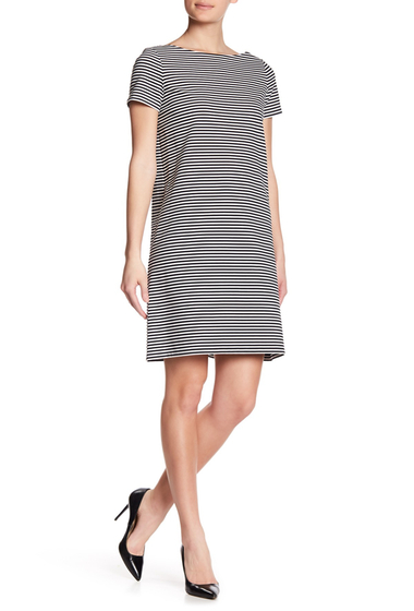 Imbracaminte Femei Lafayette 148 New York Striped Surplice Back Dress BLACK MULTI