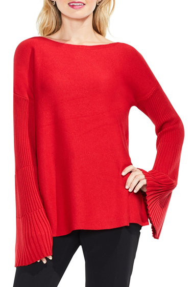 Imbracaminte Femei Vince Camuto Bell Sleeve Ribbed Sweater TRUE CRIMS