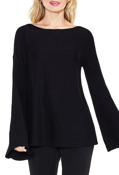 Imbracaminte Femei Vince Camuto Bell Sleeve Ribbed Sweater RICH BLACK