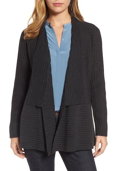 Imbracaminte Femei Eileen Fisher Ribbed Merino Wool Long Cardigan CHAR
