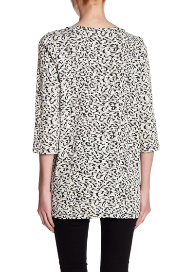 Imbracaminte Femei Chaus Leopard Zip Pocket Sweater RICH BLACK