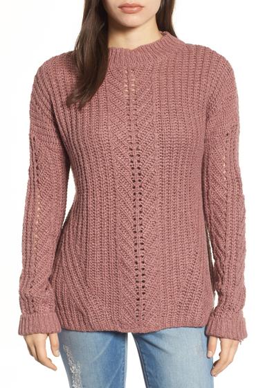 Imbracaminte Femei Lucky Brand Open Stitch Sweater DUSTY PINK