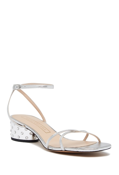 Incaltaminte Femei Marc Jacobs Sybil Leather Amkle Strap Sandal SILVER