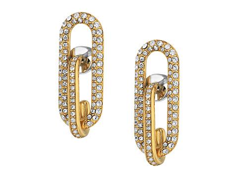 Bijuterii Femei Marc Jacobs Iconic Pave Link Earrings Gold