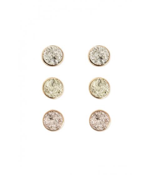 Bijuterii Femei Forever21 Faux Druzy Stud Earring Set GOLDMULTI