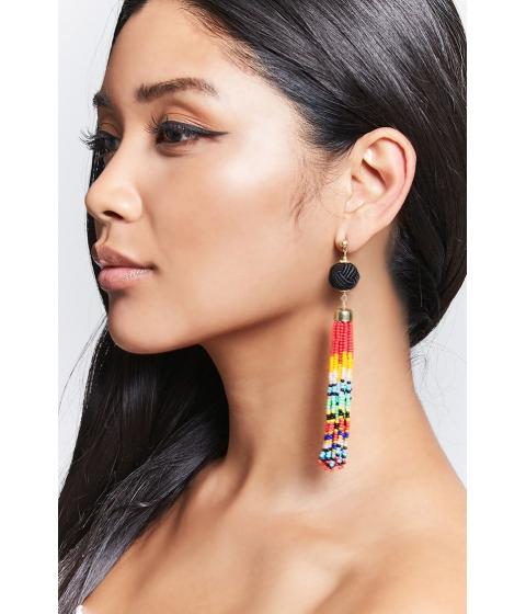 Bijuterii Femei Forever21 Beaded Duster Earrings BLACKMULTI