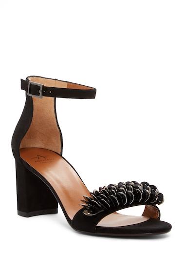 Incaltaminte Femei Aquatalia Shaina Suede Block Heel Sandal BLACK