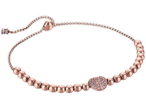 Bijuterii Femei Michael Kors Pave Hearts Tone and Peach Crystal Bead Slider Bracelet Rose Gold