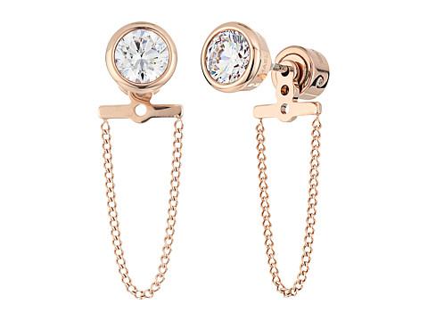 Bijuterii Femei Michael Kors Brilliance CZ Stud Chain Earrings Rose Gold