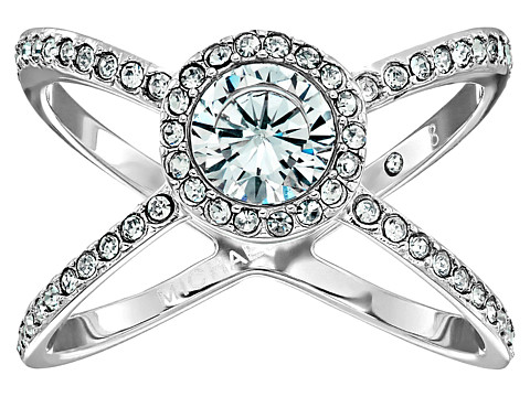 Bijuterii Femei Michael Kors Mixed Shape CZ Paveacute X Ring Silver