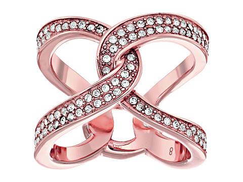 Bijuterii Femei Michael Kors Brilliance Paveacute Crystal Interlock Ring Rose Gold