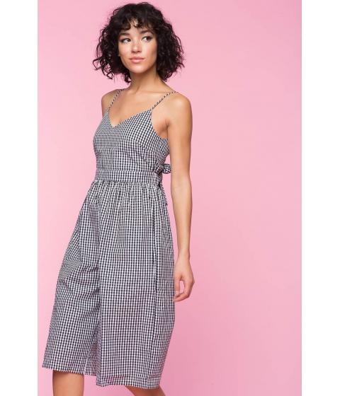Imbracaminte Femei CheapChic Gingham Culotte Jumpsuit Black Pattern