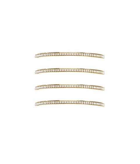 Bijuterii Femei Forever21 Rhinestone Bangle Bracelet Set GOLDCLEAR
