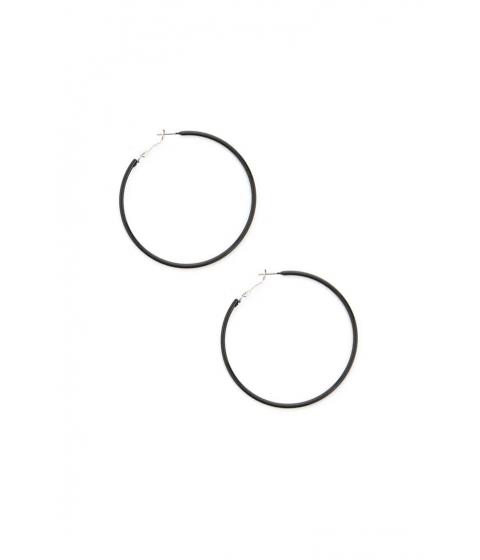 Bijuterii Femei Forever21 Coated Hoop Earrings BLACK