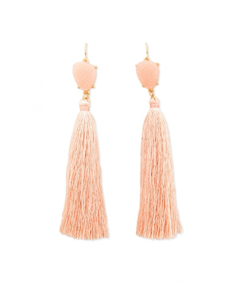 Bijuterii Femei Forever21 Faux Gem Tassel Drop Earrings LIGHT PINKGOLD