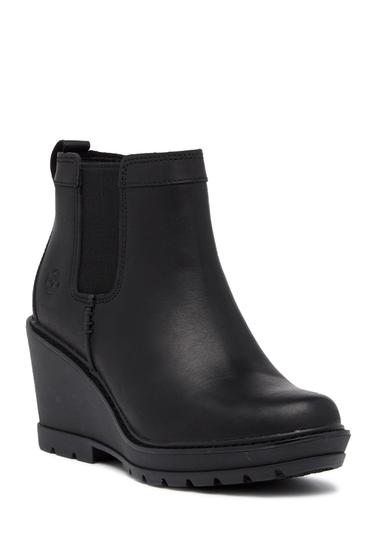 Incaltaminte Femei Timberland Kellis Double Gore Chelsea Leather Wedge Boot JET BLACK