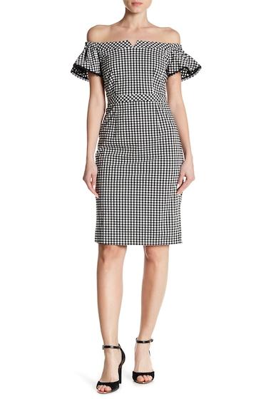 Imbracaminte Femei NANETTE nanette lepore Off-the-Shoulder Gingham Dress VERY BLACK-MARSH