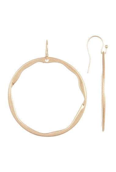 Bijuterii Femei Melrose and Market Hammered 52mm Hoop Drop Earrings GOLD
