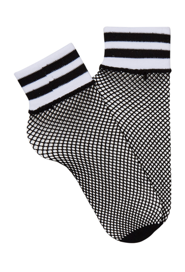 Accesorii Femei Free Press Sport Top Fishnet Crew Socks - Set of 2 BLACKWHITE