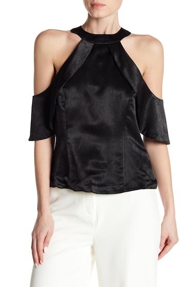 Imbracaminte Femei NANETTE nanette lepore Satin Cold Shoulder Blouse VERY BLACK