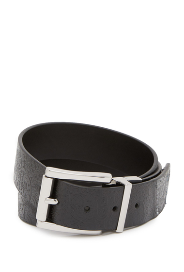 Accesorii Barbati Robert Graham Potter Reversible Leather Belt BLACK