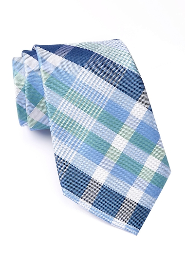 Accesorii Barbati Nautica Sebago Plaid Silk Tie GREEN