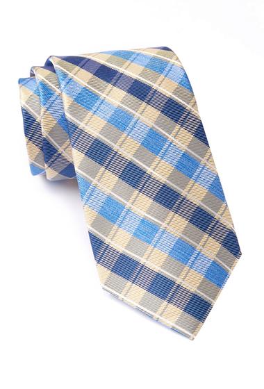 Accesorii Barbati Nautica Norwell Plaid Silk Tie YELLOW