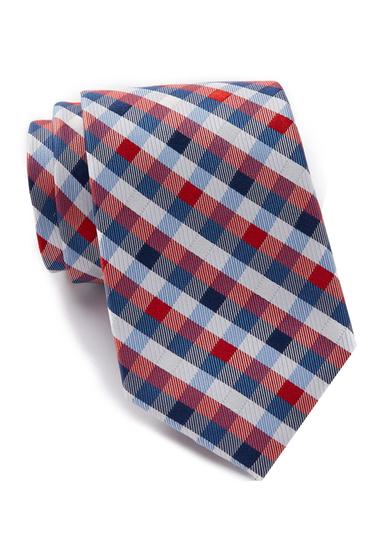 Accesorii Barbati Nautica Varne Check Silk Tie RED