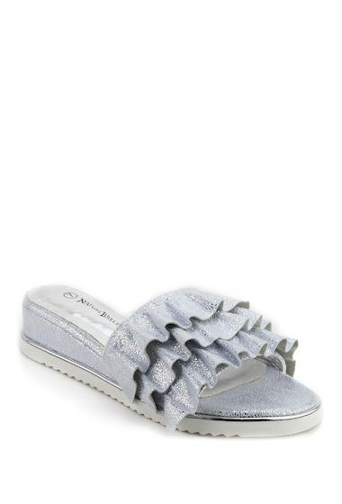 Incaltaminte Femei Nature Breeze Ivana Ruffle Platform Sandal SILVER