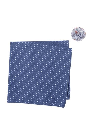 Accesorii Barbati Original Penguin Cramm Dot Pocket Square Lapel Pin Set BLUE