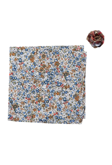 Accesorii Barbati Original Penguin Dibley Floral Packet Square Lapel Pin Set BLUE