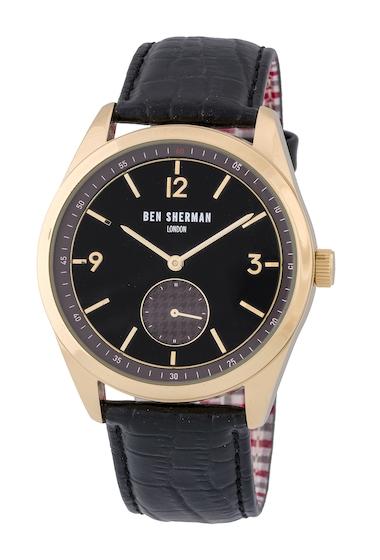 Ceasuri Barbati Ben Sherman Mens Carnaby Driver Quartz Watch 425mm BLACKBROWN