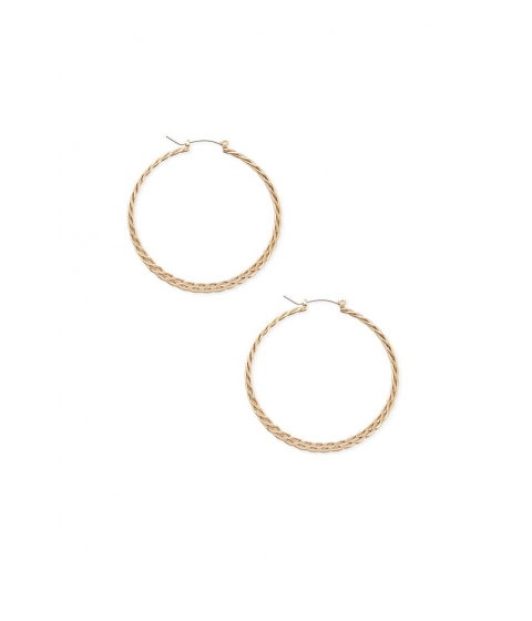 Bijuterii Femei Forever21 Braided Hoop Earrings GOLD