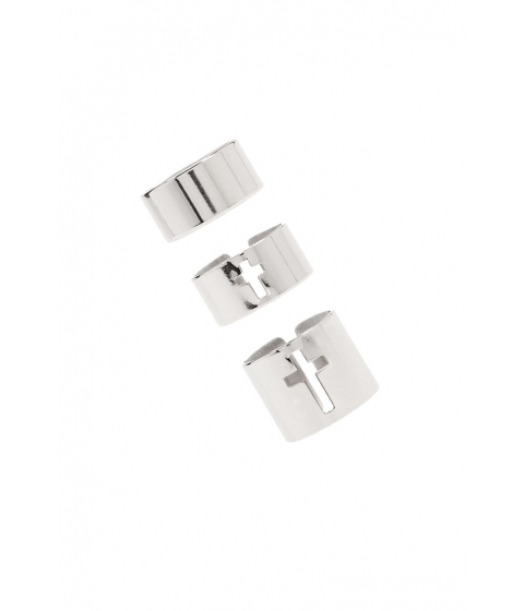 Bijuterii Femei Forever21 Stackable Tube Ring Set SILVER