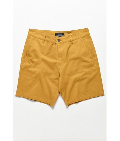 Imbracaminte Barbati Forever21 Woven Twill Shorts MUSTARD
