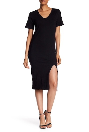 Imbracaminte Femei Socialite Midi T-Shirt Dress BLACK