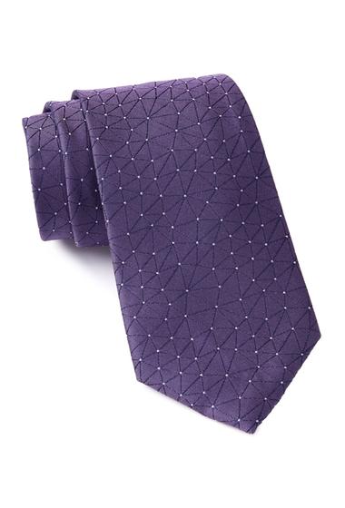 Accesorii Barbati Calvin Klein Constellation Silk Tie PURPLE