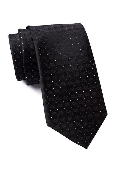 Accesorii Barbati Calvin Klein Discrete Reflective Logo Tie BLACK