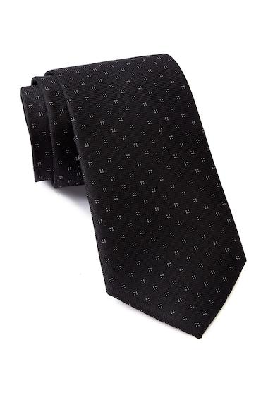 Accesorii Barbati Calvin Klein Micro 4 Square Silk Tie BLACK