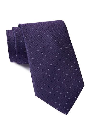 Accesorii Barbati Calvin Klein Micro 4 Square Silk Tie PURPLE